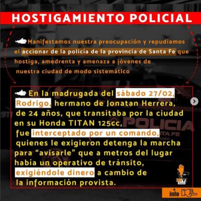 Un nuevo caso de abuso de las fuerzas de seguridad en Rosario