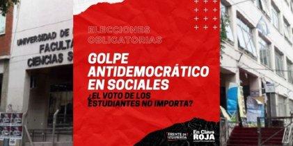 Golpe antidemocrático en Sociales