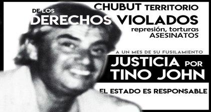 Chubut: a un mes de su fusilamiento crece el reclamo de justicia por Tino John
