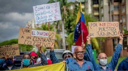 Exigen en Venezuela la libertad de los trabajadores presos por luchar