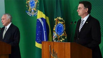 Temer invita a Bolsonaro a participar del G20 en Argentina