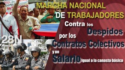 [VIDEO] La marcha de la Intersectorial de Trabajadores 28N por un salario digno, la defensa de los contratos colectivos y contra los despidos