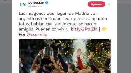 """""""Argentinos con toques europeos"""": civilización y barbarie en el River-Boca según La Nación"""