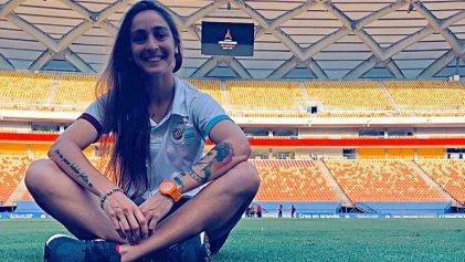 La jugadora Macarena Sánchez intimó a UAI Urquiza y va por la profesionalización del fútbol femenino