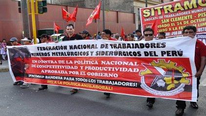 Trabajadores mineros de Perú iniciarán huelga indefinida el 10 de septiembre