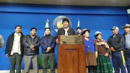 OEA no valida resultado y Evo anuncia nuevas elecciones