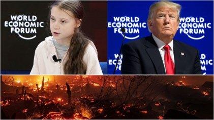 Greta Thunberg vs Donald Trump: cruce en Davos 2020 sobre la crisis climática global