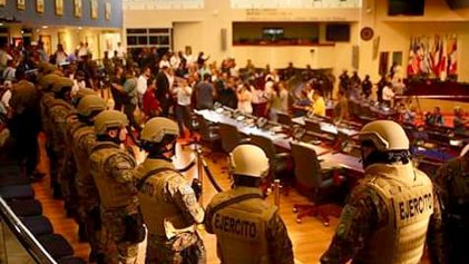 Bukele militariza Asamblea Legislativa para presionar aprobación de millonario préstamo para plan de seguridad