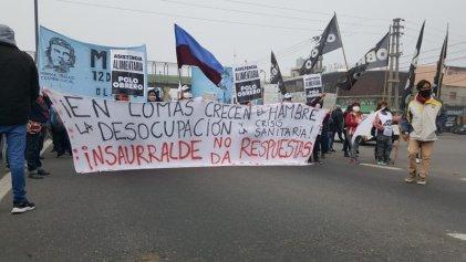 [Fotogalería] Reclamo de organizaciones en Puente La Noria por la crisis alimentaria y sanitaria