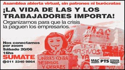 Convocatoria a plenario de trabajadores ocupados, precarizados y desocupados de CABA