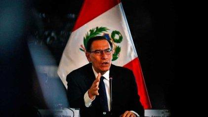 Crisis en Perú: el Congreso inicia proceso de destitución de Vizcarra