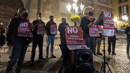 Manifestación en Barcelona contra el estado de alarma y por un plan de rescate para los trabajadores