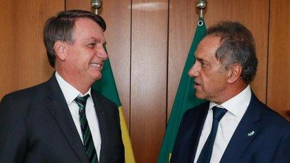 Daniel Scioli gestionó una reunión entre Bolsonaro y Alberto Fernández para el 26-M