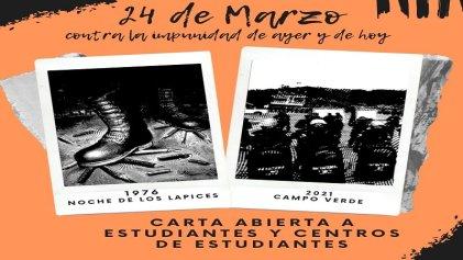 24M: carta abierta a estudiantes y centros de la UNJu