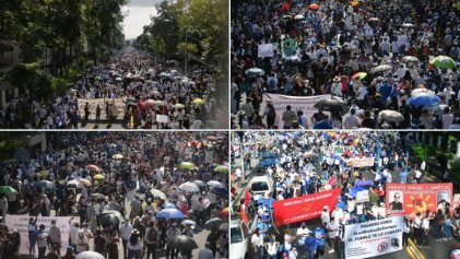 Decenas de miles toman las calles en El Salvador en protesta contra el Gobierno de Nayib Bukele