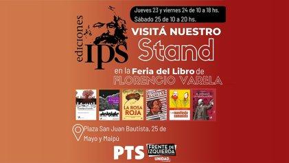 Ediciones IPS participará en la Feria del Libro de Florencio Varela