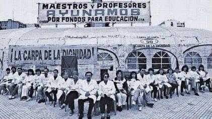 La Carpa Blanca: ¿un hito en la lucha docente?