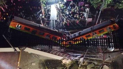 Tragedia en México: se derrumba un puente ferroviario y mueren más de 20 personas