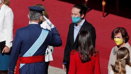 Pablo Iglesias y Unidas Podemos junto a la monarquía en el acto del 12 de Octubre