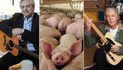 """Alberto, Liz Solari y Paul McCartney: """"aclaraciones"""" presidenciales sobre el acuerdo porcino"""
