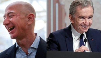 Mientras millones empobrecen, Bezos y Arnault se disputan el podio del más rico del mundo