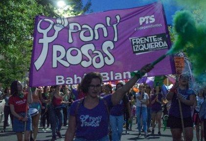 """#9M Bahía Blanca: se movilizó al grito de """"el proyecto está en las calles y la deuda es con nosotras"""""""