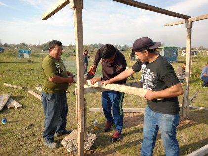 Rafael Castillo. Jornada de trabajo en el barrio La Nueva Unión