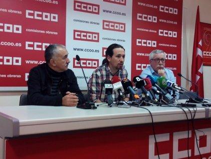 La burocracia sindical le tiende la mano a Podemos e IU