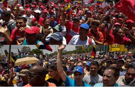 Gobierno y oposición hablan de golpe, pero golpes son los que sufre el pueblo trabajador