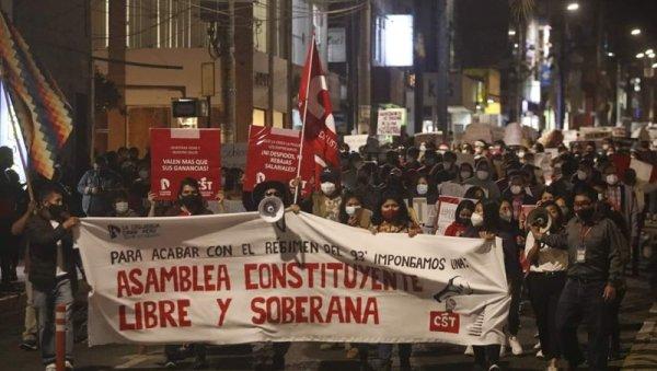 ¡Francisco Sagasti no nos representa! Por una Asamblea Constituyente Libre y Soberana